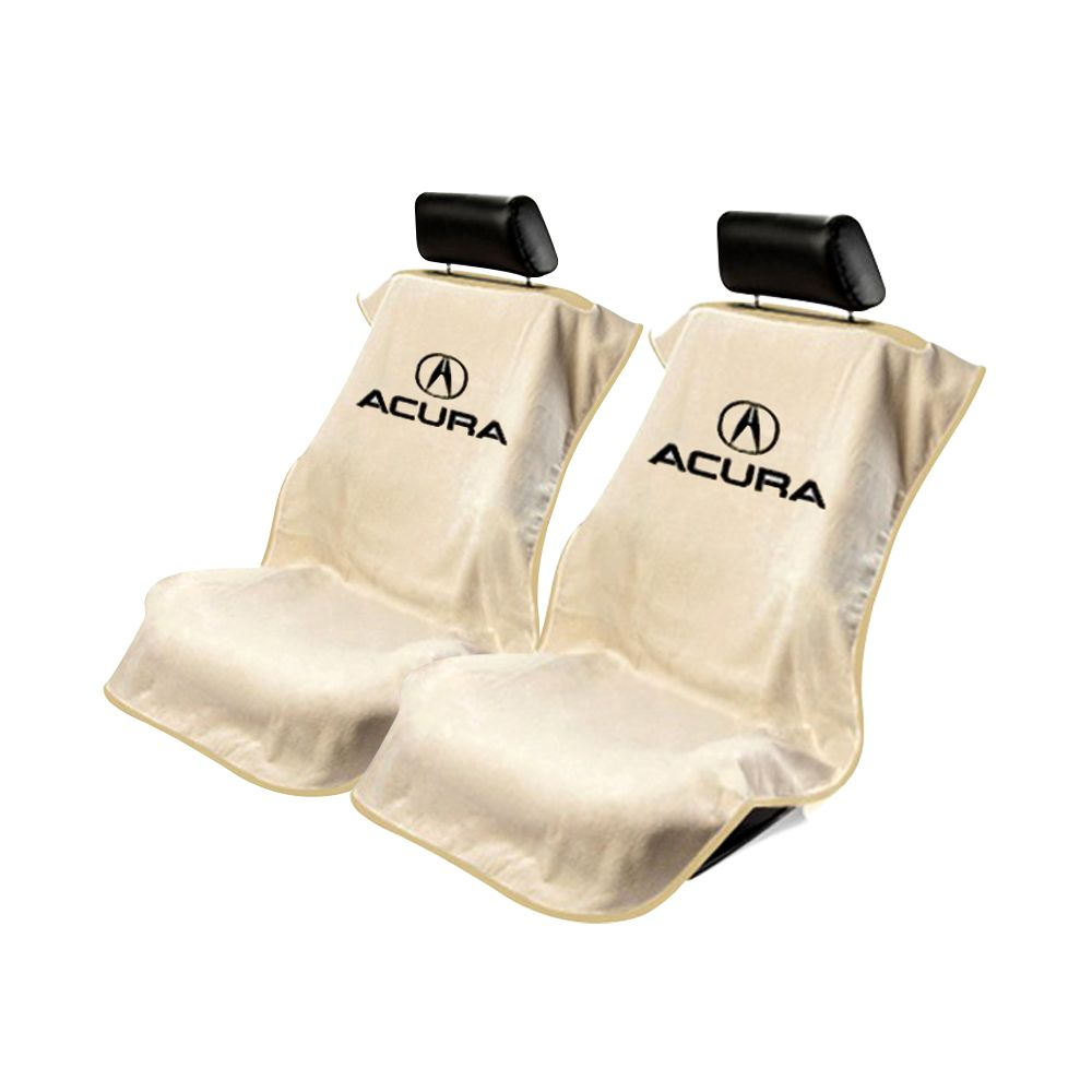 Seat Armour ® - Pair of Tan Towel Seat Covers with Acura Logo (SA100ACUT)