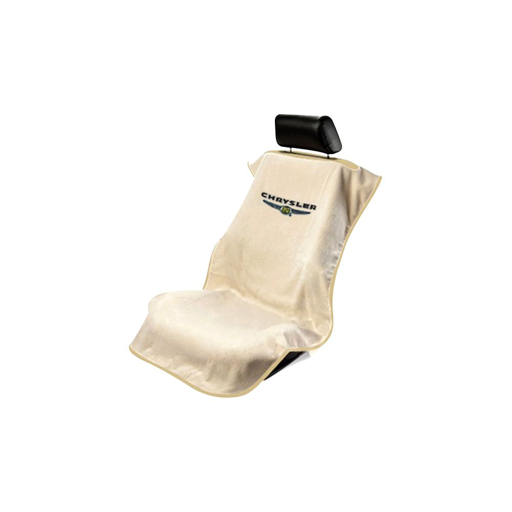 Seat Armour ® - Tan Towel Seat Cover with Chrysler Logo (SA100CHRT)