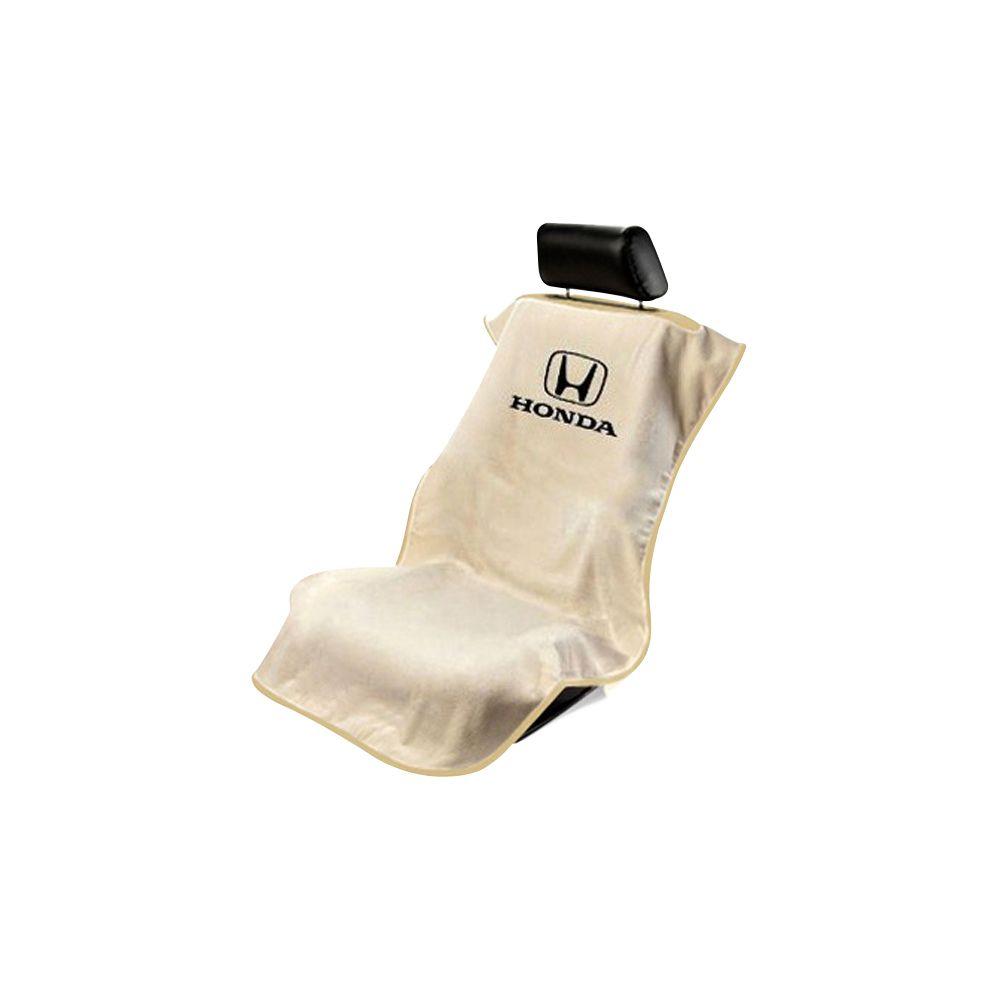 Seat Armour ® - Tan Towel Seat Cover with Honda Logo (SA100HONT)