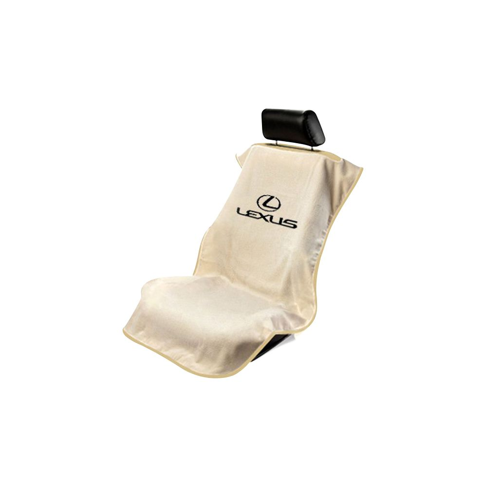 Seat Armour ® - Tan Towel Seat Cover with Lexus Logo (SA100LXST)