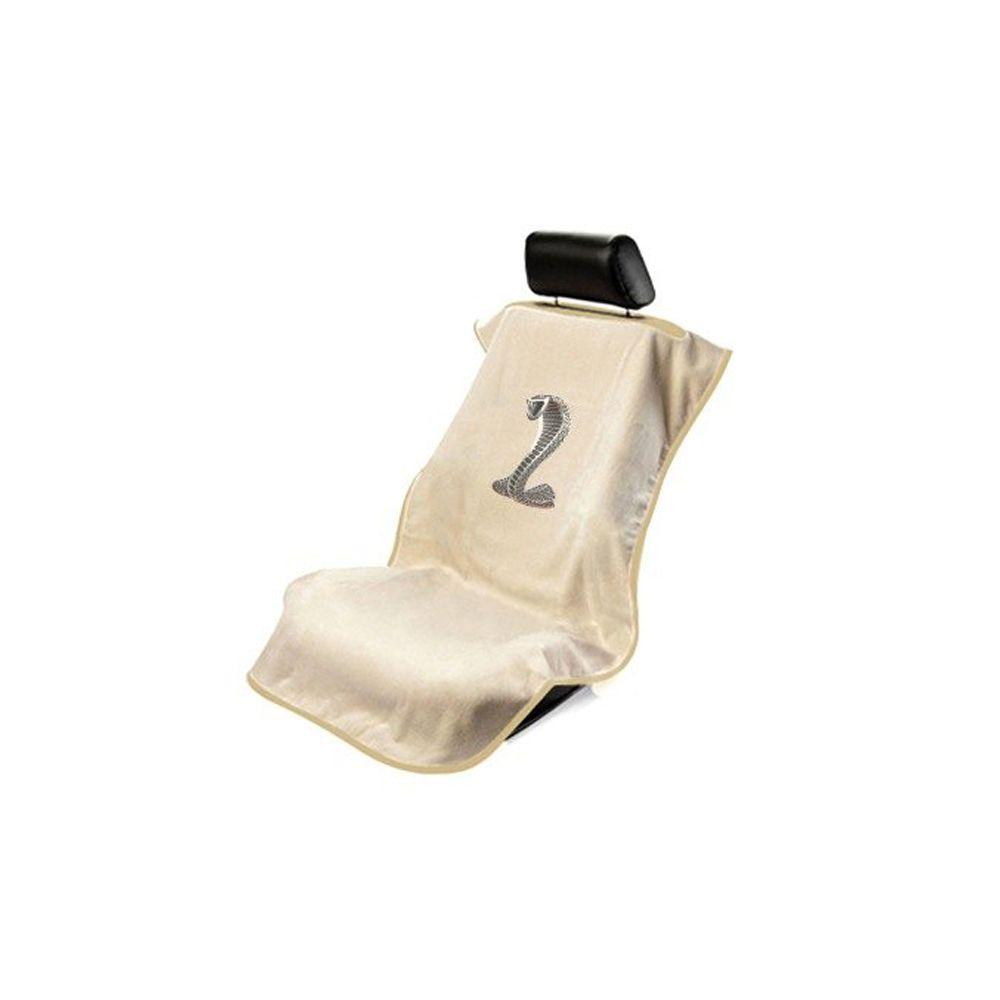 Seat Armour ® - Tan Towel Seat Cover with Mustang Cobra Logo (SA100COBT)