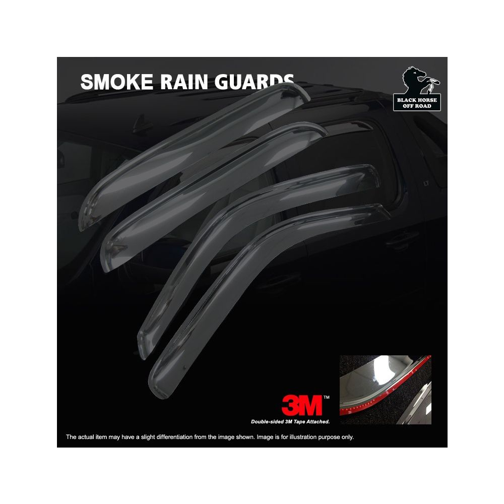 Black Horse Off Road ® - Smoke Rain Guards (14-94744)