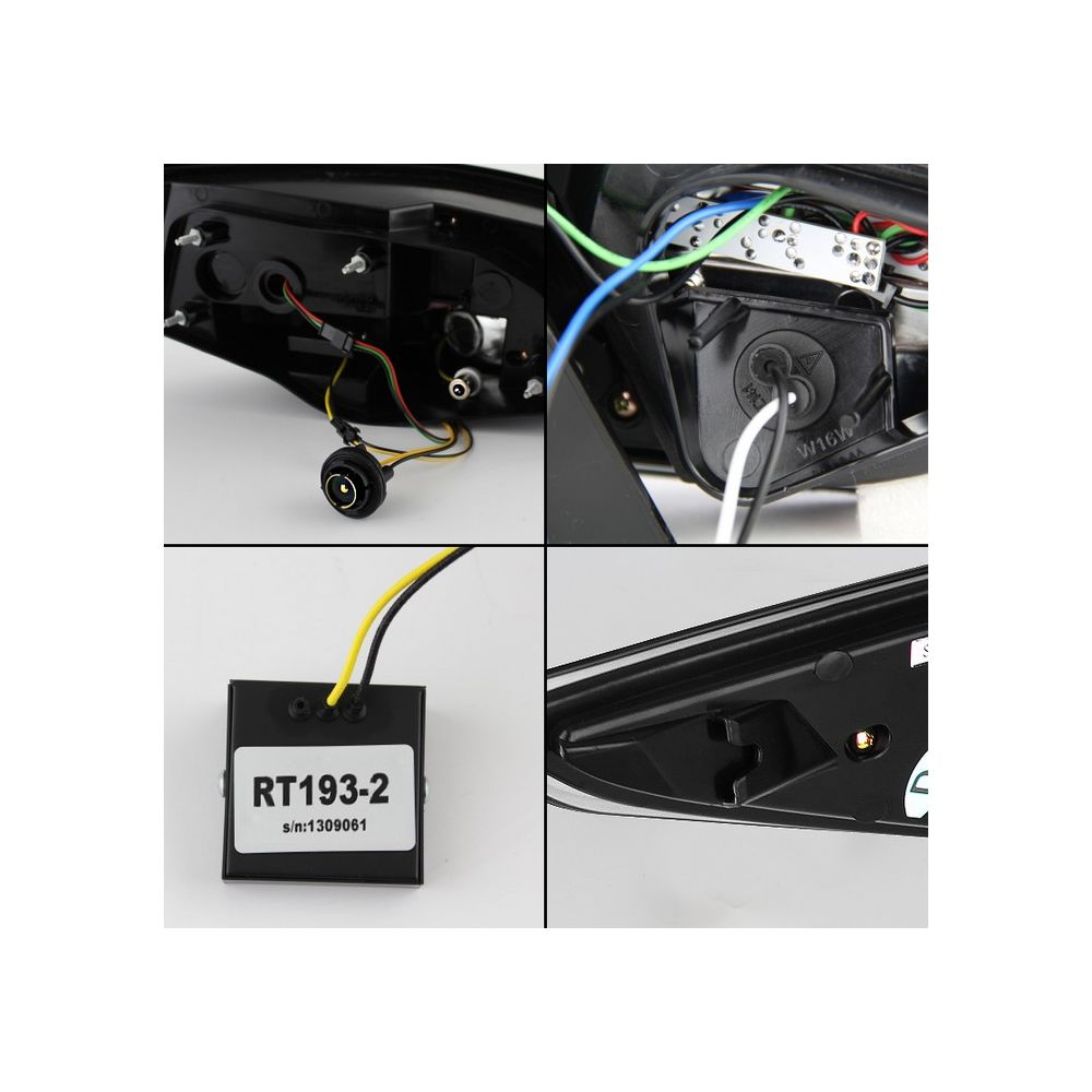 Spyder Auto ® - Black Light Bar Style LED Tail Lights (5075246)