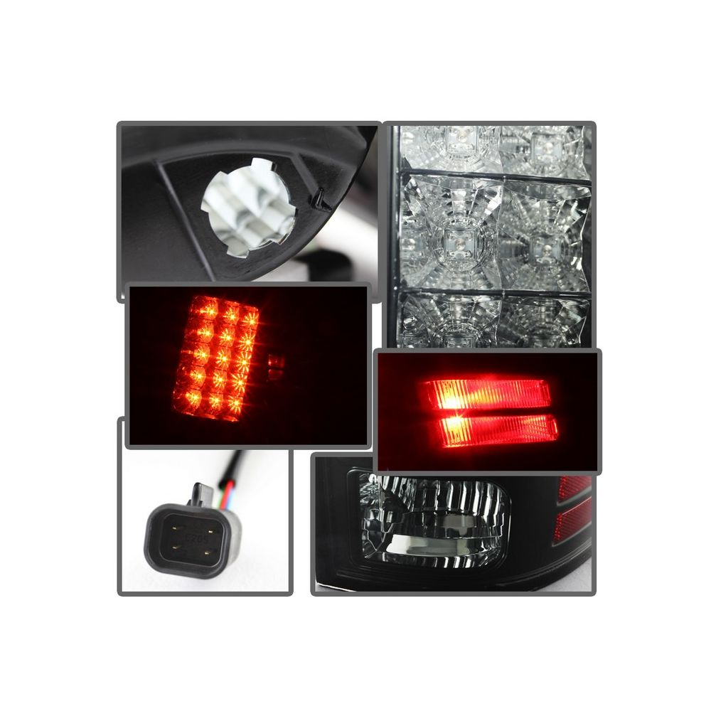 Spyder Auto ® - Black Smoke LED Tail Lights (5077578)