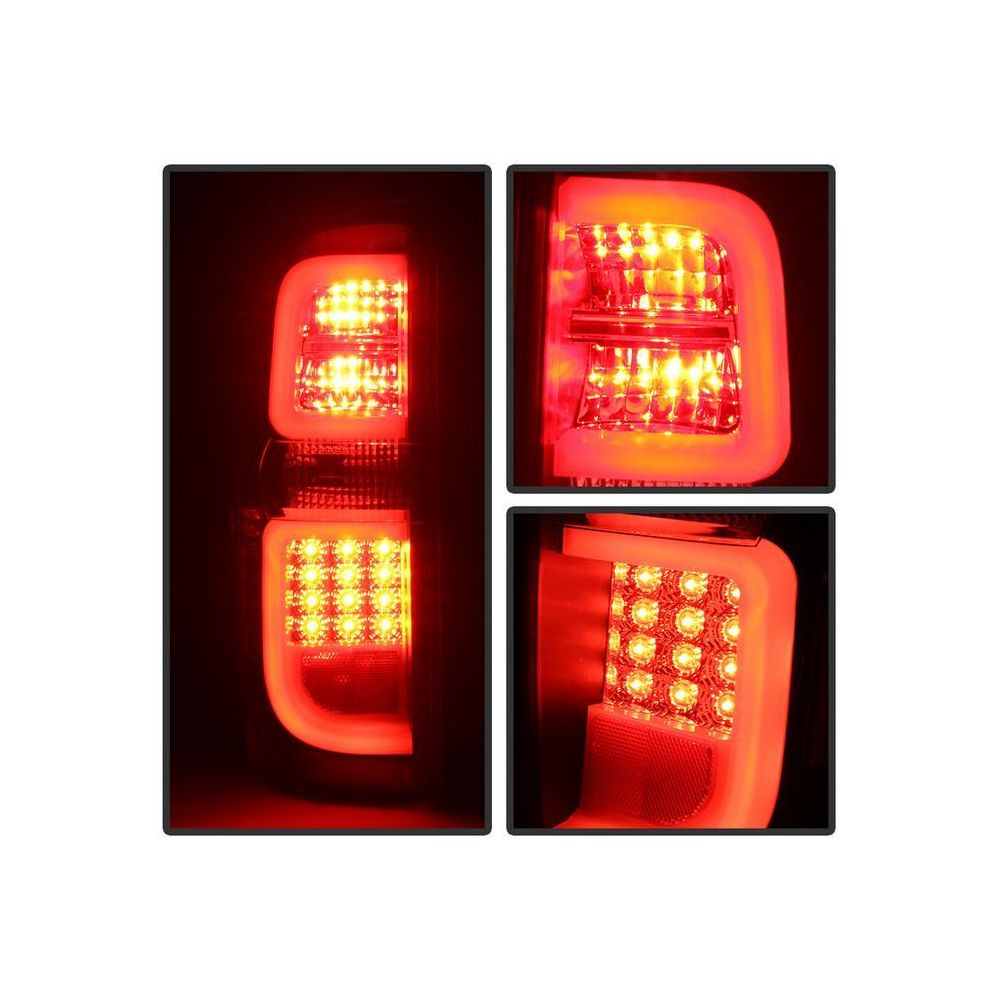 Spyder Auto ® - Black Smoke Light Bar LED Tail Lights (5080202)