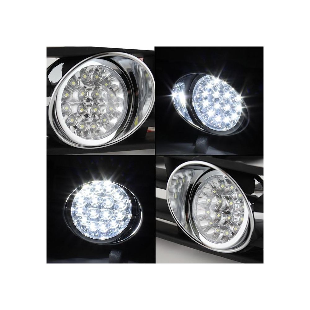 Spyder Auto ® - Chrome Halo LED Fog Lights (5076250)