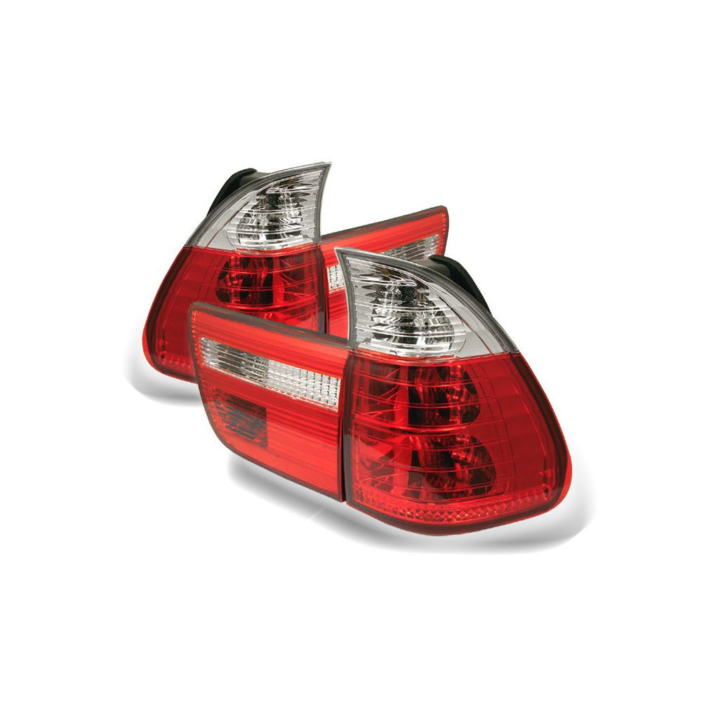 Spyder Auto ® - Red Clear 4PCS Euro Style Tail Lights (5000835)