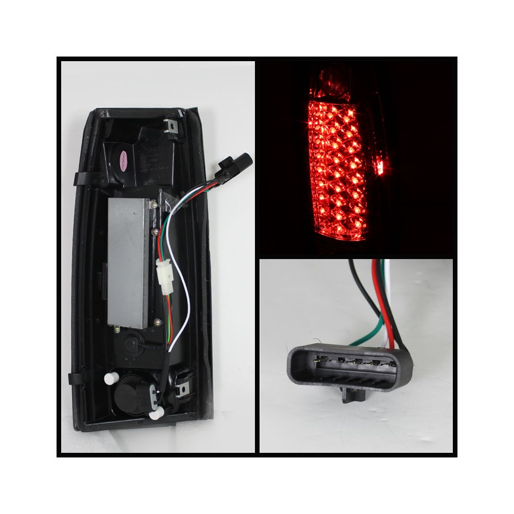 Spyder Auto ® - Red Clear LED Tail Lights (5001375)