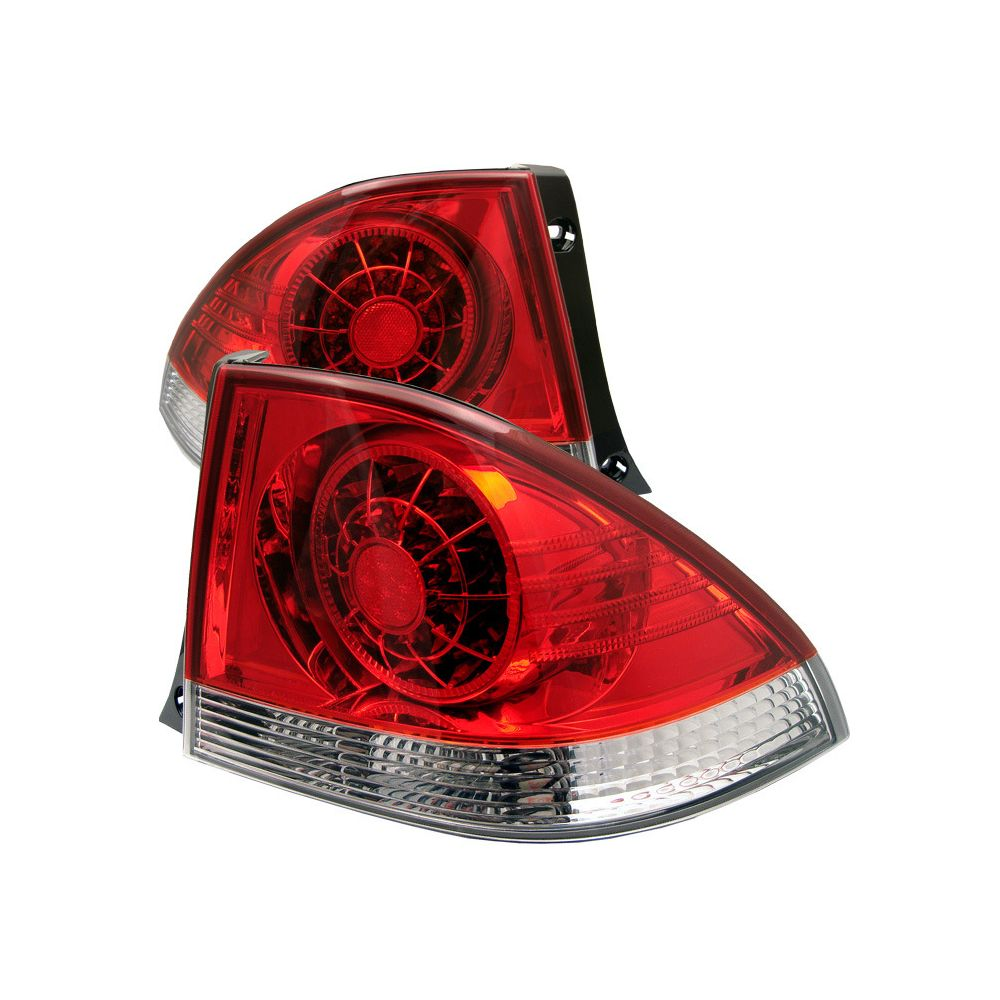 Spyder Auto ® - Red Clear LED Tail Lights (5005823)