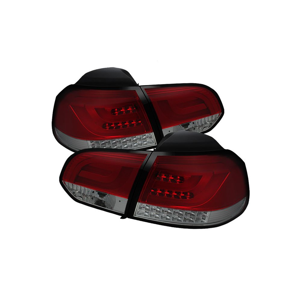 Spyder Auto ® - Red Smoke G2 Type With Light Bar LED Tail Lights (5071798)
