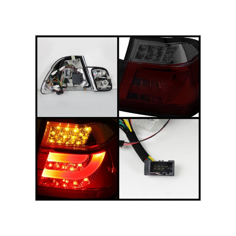 Spyder Auto ® - Red Smoke Light Bar Style LED Tail Lights (5015969)