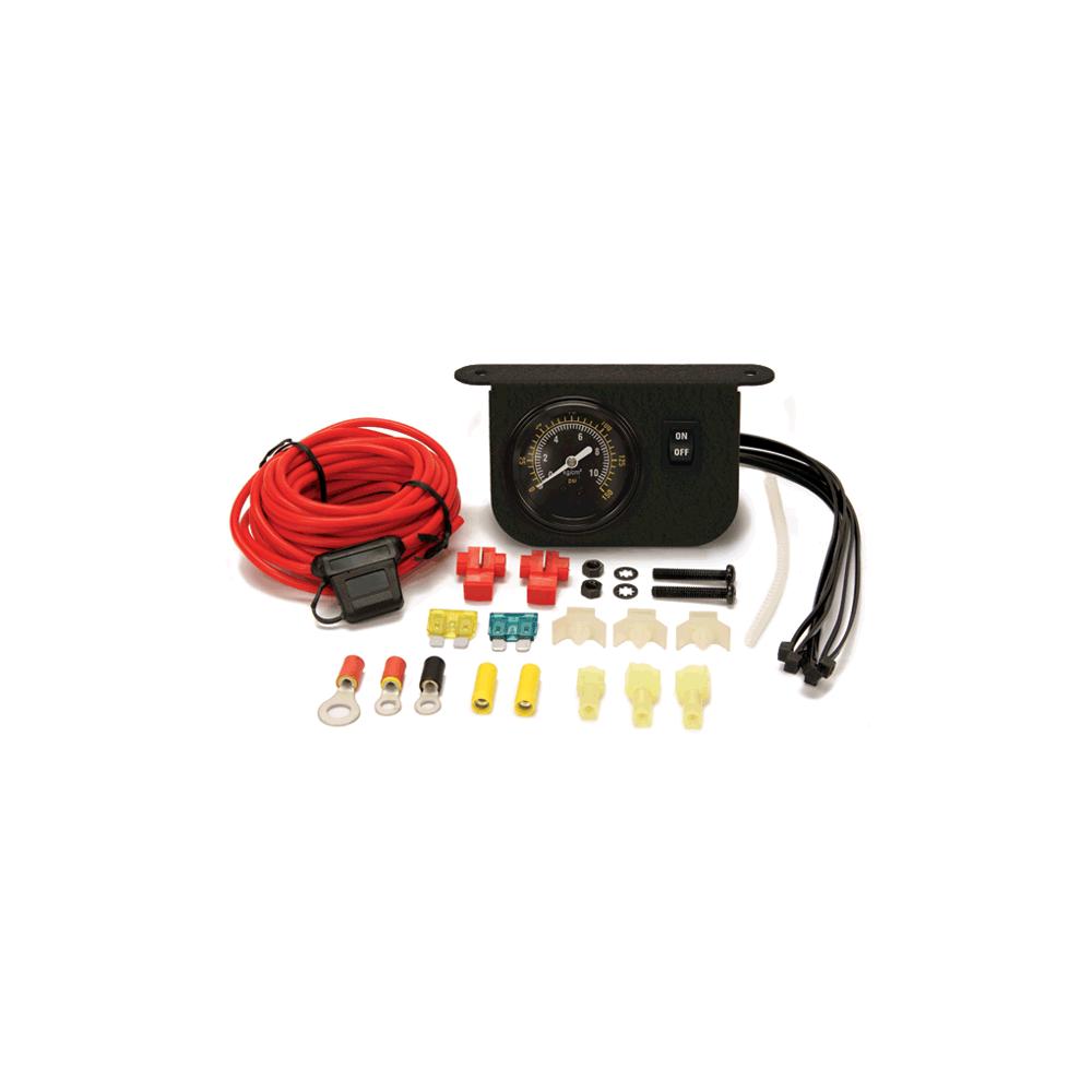 Viair ® - Illuminated Dash Panel Gauge Black Face Kit (10061)