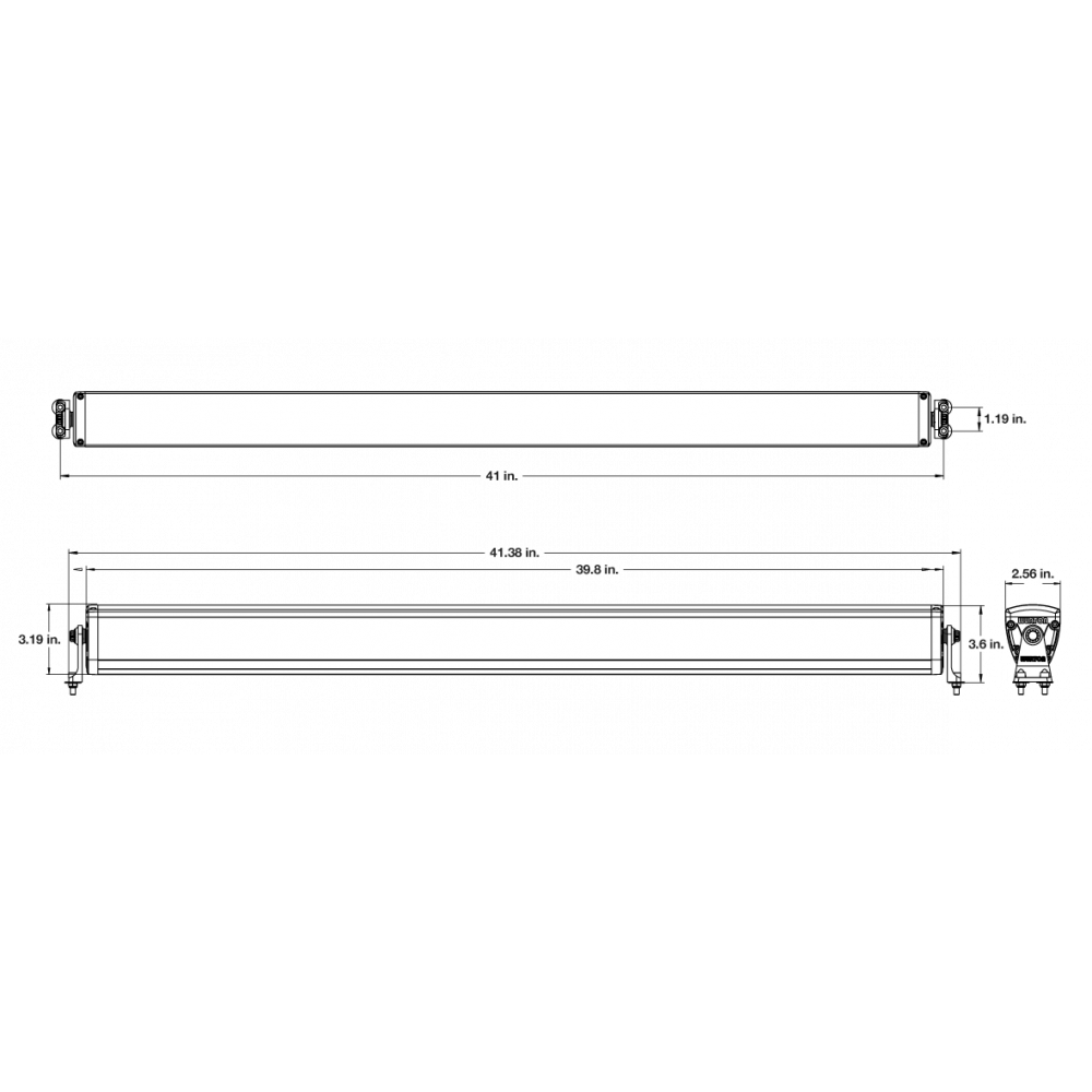 Wurton ® - 40 Inch 10 Watt High Performance Combo Beam LED Light Bar Kit (21403)