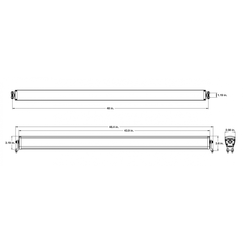 Wurton ® - 48 Inch 10 Watt High Performance Combo Beam LED Light Bar Kit (21483)