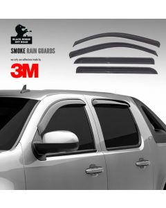 Black Horse Off Road ® - Smoke Rain Guards (14-94981)