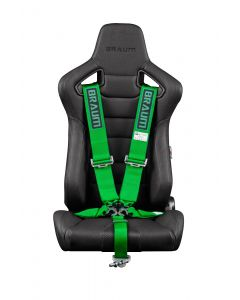 Braum Green 5 Point 3 Inch SFI 16.1 Racing Harness BRH-GNS5, Main Image