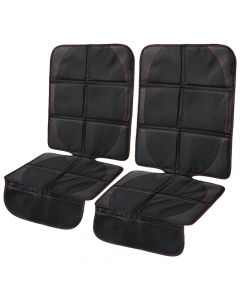 CarVam ® - Pair of Black Waterproof Thick Premium Car Seat Protectors With 2 Mesh Storage Pockets (CVVAMOS)