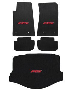 Lloyd Mats ® - Classic Loop Ebony 5PC Floor Mats For Camaro RS Convertible with Red RS Logo