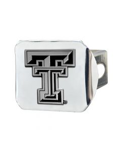 Fanmats ® - Texas Tech University Chromed Metal Hitch Cover (15100)