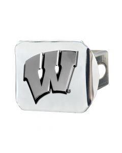 Fanmats ® - University of Wisconsin Chromed Metal Hitch Cover (15091)