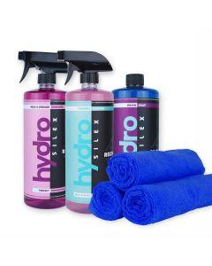 HydroSilex Starter 32 oz Kit Rewind, Recharge, Silica Soap & 10 Microfiber Towels