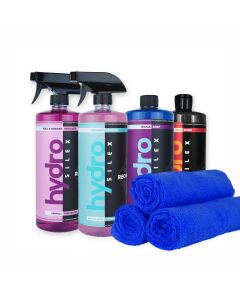 HydroSilex Full 32 oz Detail Kit Rewind, Recharge, Silica Soap, Slick & 10 Microfiber Towels