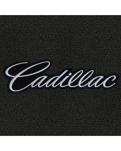 Lloyd Mats Classic Loop Ebony 4PC Floor Mats For Cadillac DTS with Silver Cadillac Script Applique on Front Mats, Logo