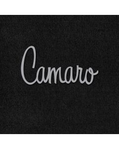 Lloyd Mats Velourtex Black 4PC Floor Mats For Chevrolet Camaro, Logo