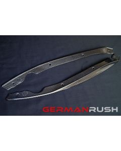 Vertical Doors ® - German Rush™ Carbon Fiber Front Side Splitters (GRJAGCFFSS1416)