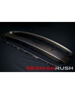 Vertical Doors ® - German Rush™ Carbon Fiber Grill Frame and License Plate Bar Kit (GRJAGCFGFLPB1416)