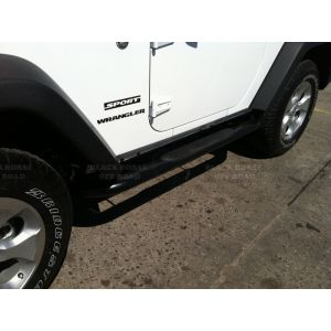 Black Horse Off Road ® - Black 3 Inch Round Side Steps (9B083803A)