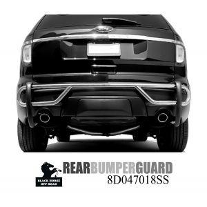 Black Horse Off Road ® - Rear Bumper Guard (8D047018SS)