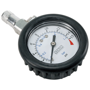 Viair ® - 2 Inch Tire Gauge With Bleeder Valve and Rubber Boot (90058)