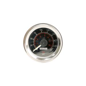 Viair ® - 2 Inch Dual Needle Illuminated Black Face In-Dash Gauge (90080)