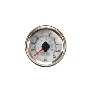 Viair ® - 2 Inch Dual Needle Illuminated White Face In-Dash Gauge (90081)