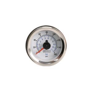 Viair ® - 2 Inch Dual Needle Illuminated White Face In-Dash Gauge (90083)