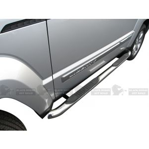 Black Horse Off Road ® - Stainless Steel 3 Inch Round Side Steps (9B086401SS)