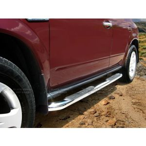 Black Horse Off Road ® - Stainless Steel 3 Inch Round Side Steps (9NO07SS)