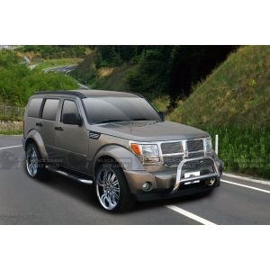Black Horse Off Road ® - Stainless Steel 3 Inch Round Side Steps (9B071101SS)