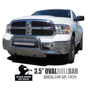 Black Horse Off Road ® - 3.5 Inch Oval Bull Bar (BBDG109-SP-35OV)