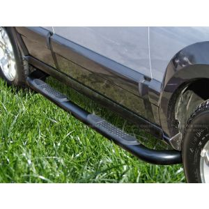 Black Horse Off Road ® - Black 3 Inch Round Side Steps (9B8501BK)