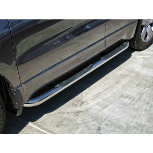 Black Horse Off Road ® - Stainless Steel 3 Inch Round Side Steps (9B035701A1SS)