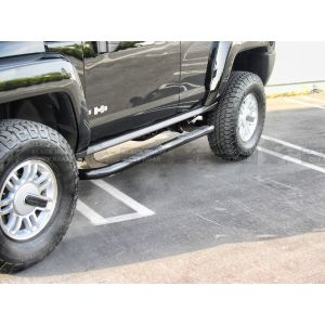 Black Horse Off Road ® - Black 3 Inch Round Side Steps (9B070203A)
