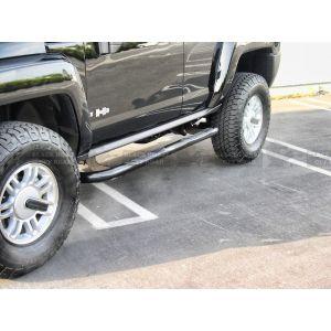 Black Horse Off Road ® - Black 3 Inch Round Side Steps (9B083801A)