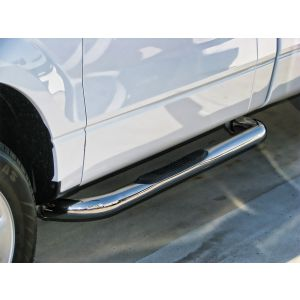 Black Horse Off Road ® - Stainless Steel 3 Inch Round Side Steps (9B076701SS)