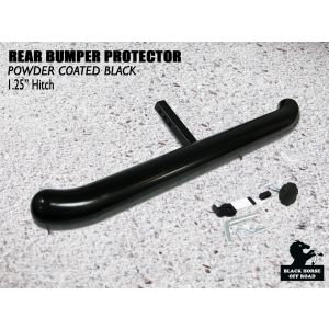 Black Horse Off Road ® - Universal 1.25 Inch Black Rear Bumper Protector Length 36 Inch (RBP2000A)