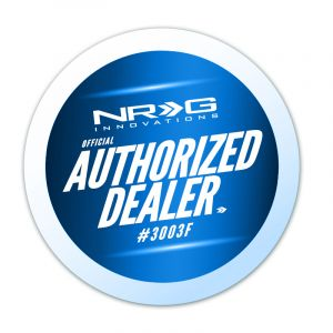 NRG ® - Quick Release Black Body and White Ring with Finger Grooves (SRK-250WT)
