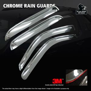 Black Horse Off Road ® - Chrome Rain Guards (240640)