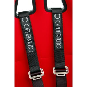 Cipher Auto ® - Black 4 Point 2 Inches Camlock Quick Release Racing Harness Set (CPA4001BK)