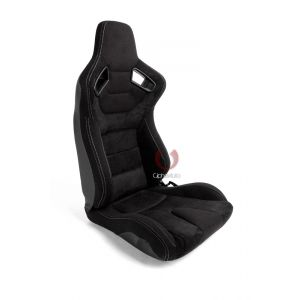Cipher Auto ® - Black Suede and Fabric with Carbon Fiber Universal AR-9 Revo Racing Seats (CPA2009CFSDBK)